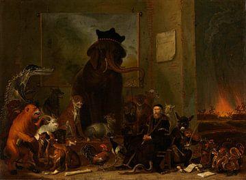 Satire auf den Prozess gegen Johan van Oldenbarneveldt, Cornelis Saftleven