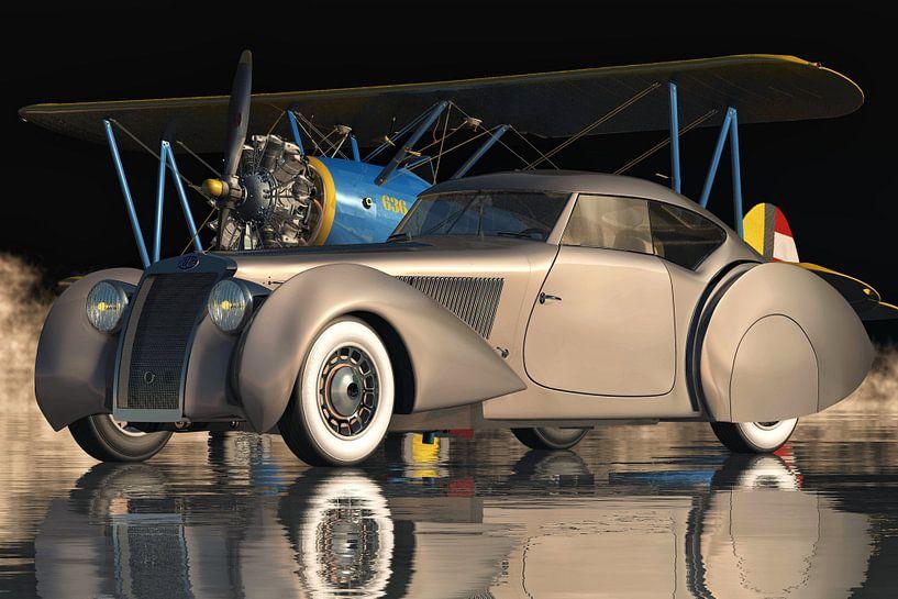 Delage D8-120 Aerosport Klassieke Auto van Jan Keteleer