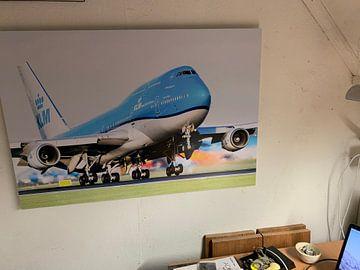Klantfoto: KLM Boeing 747 in prachtig avondlicht van Dennis Janssen