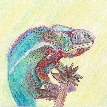 Zeichnung: Chamäleon von Jerzy Beerepoot