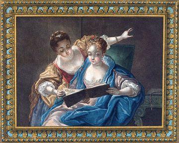 Zwei Musen, Louis-Marin Bonnet, 1775 von Atelier Liesjes