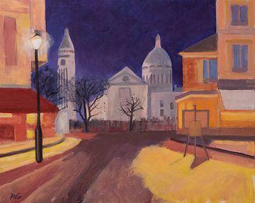 Place du tetre Paris von Antonie van Gelder Beeldend kunstenaar