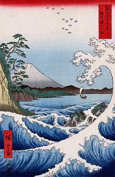 De zee van Satta - Utagawa Hiroshige Japanse houtsnede van Roger VDB
