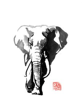 gehender Elefant von philippe imbert