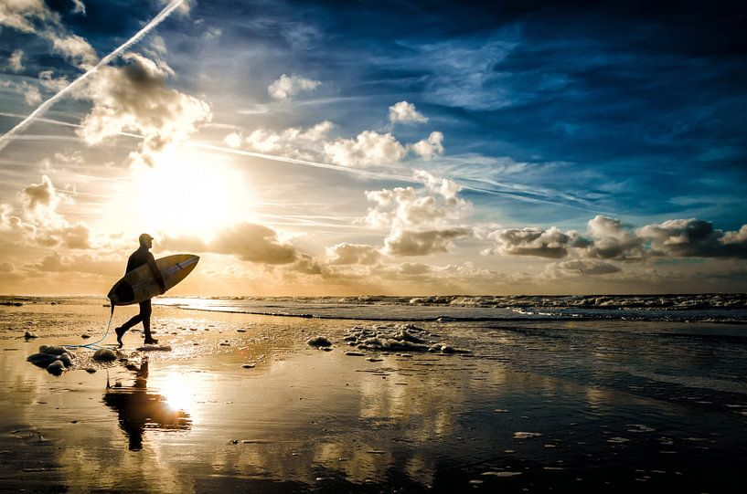 Surfers Reflection Texel von Prachtt