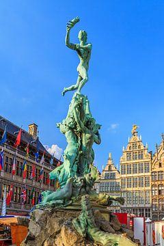 Brabo monument Antwerpen von Dennis van de Water