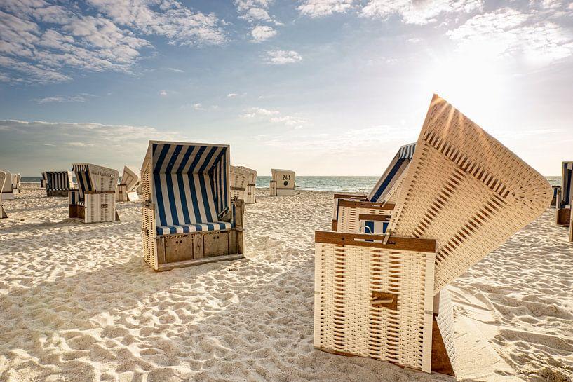 Strandkörbe Blau-Weiß von Dirk Thoms