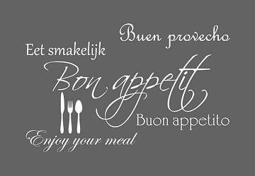 Bon appetit - Donker grijs van Sandra H6 Fotografie