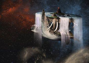 A'tuin reis door het universe (discworld IV) van Dray van Beeck