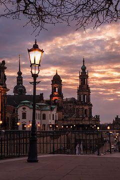 Abendstimmung an der Terrassenufer Dresden