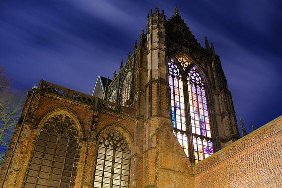 Domkerk in Utrecht gezien vanaf het Domplein van Donker Utrecht