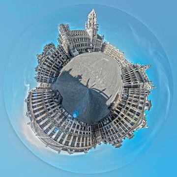 Mini Planet 360 - Großer Platz von Brüssel von Paul Marnef