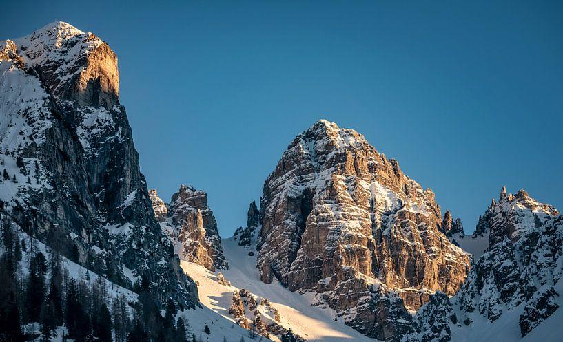 Bergtop Schneiderspitze @ Axamer Lizum Oostenrijk van Martijn van Dellen