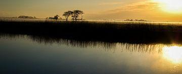 Sonnenaufgang über den Dokkumer Ee von Ciska Heins