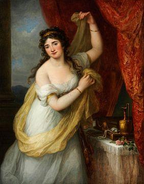 Porträt einer Frau bei der Toilette, Angelika Kauffmann