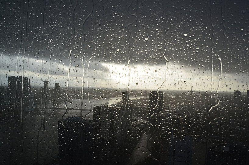 Rotterdam in de regen van Marcel van Duinen