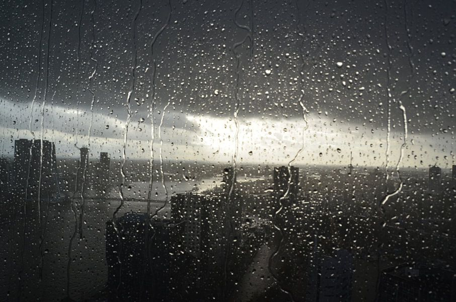 Rotterdam in de regen