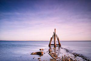 Paal Zeeland aan het Grevelingenmeer van