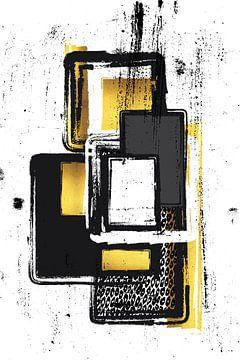 Abstracte Schilderij nr. 3 goud van Melanie Viola
