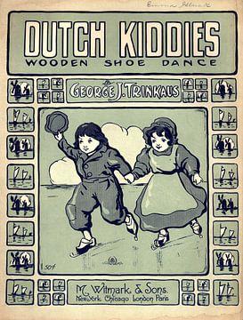 Liedje over Nederlandse kindjes 1909 van Atelier Liesjes