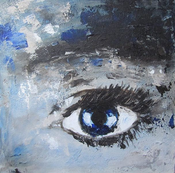 Blue eye van Linda Dammann