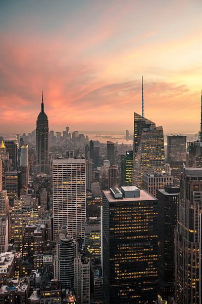 New York Panorama IV van Jesse Kraal