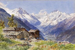 Die Alpe Barneuza (Wallis), EDWARD THEODORE COMPTON, Um 1900