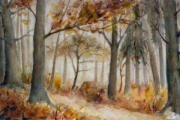 de herfst bos van Christine Nöhmeier