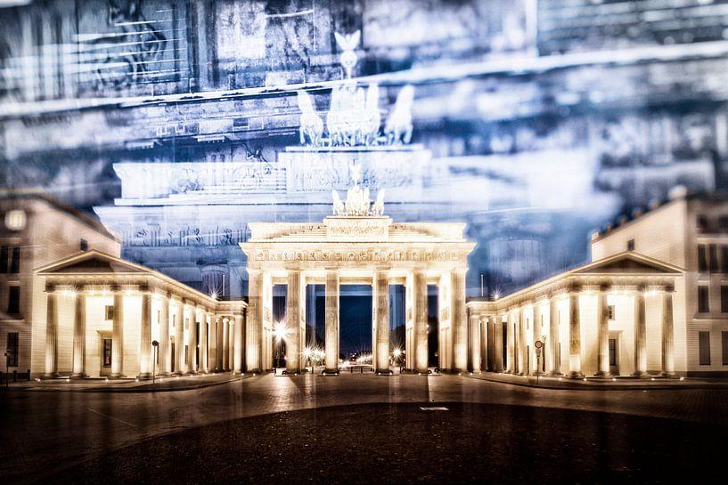 BERLIN Brandenburg Gate   In Detail van Melanie Viola