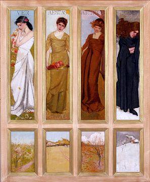 Die vier Jahreszeiten, Hugh RAMSAY, 1902 von Atelier Liesjes