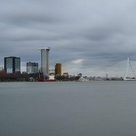 zicht op Rotterdam van Nico Dam