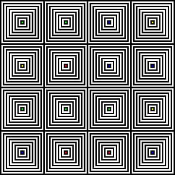 Nested | Center | 04x04 | N=08 | Random #01 | RGBY van Gerhard Haberern