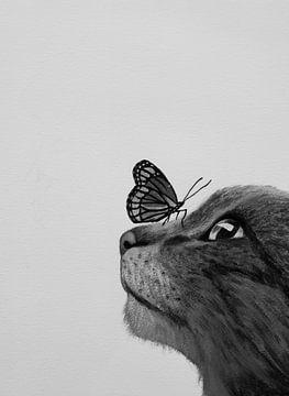 Kat en Vlinder van Liv Jongman