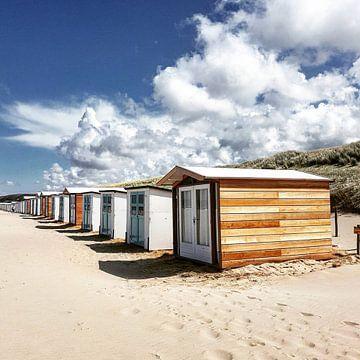 Strandhuisjes Texel van Niels Krommenhoek