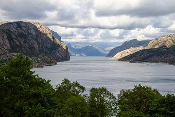 overview van lyseboth noorwegen van Frits Hogewoning