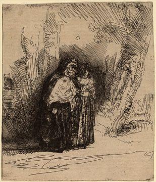 Rembrandt van Rijn  Der spanischen Zigeuner Preciosa