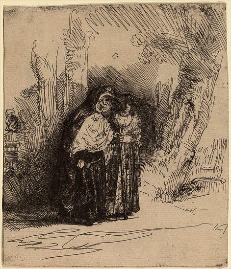 Rembrandt van Rijn, De Spaanse Zigeuner Preciosa van Rembrandt van Rijn