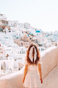 Santorin, ein schöner Blick auf die griechische Insel von Dymphe Mensink
