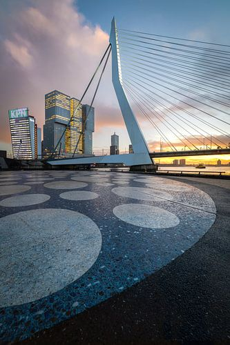 Erasmusbrug Noordereiland - Rotterdam van