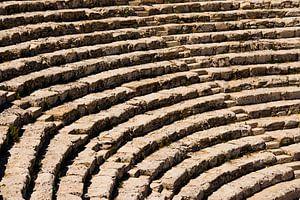 Het amphitheater van Segesta, Sicilië