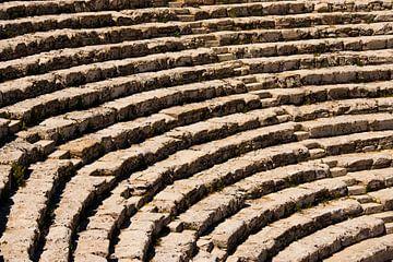 Het amphitheater van Segesta, Sicilië von Ed de Cock