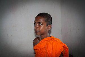boeddhistische priester, Sri Lanka.
