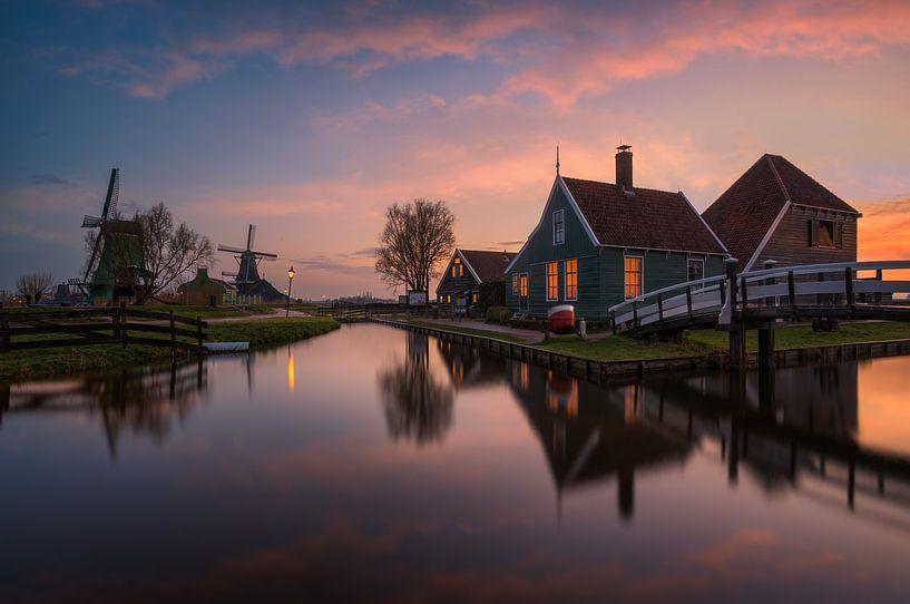 De Zaanse Schans, Nederland van Photo Wall Decoration