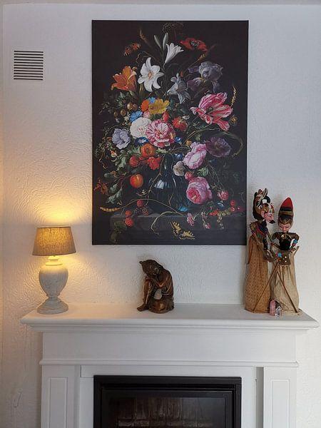 Kundenfoto: Stillleben mit Blumen in einer Vase von Jan Davidsz