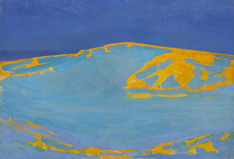Sommer, Düne in Zeeland, Piet Mondrian von Meesterlijcke Meesters