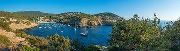 Bucht von Ibiza Cala Vadella Panorama von Jan van Suilichem