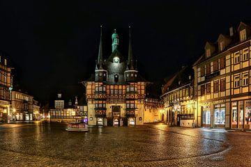 Place du marché à Wernigerode sur Sabine Wagner