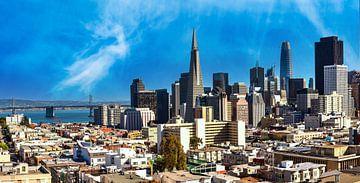 Panorama Skyline Downtown San Francisco Kalifornien von Dieter Walther