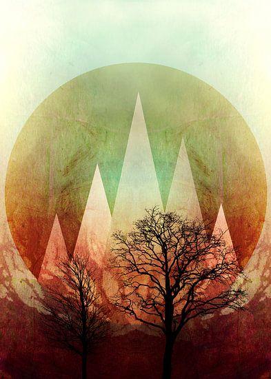 TREES under MAGIC MOUNTAINS I van Pia Schneider