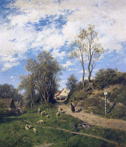 Frühling, ADOLF HEINRICH LIER, Ca. 1873 von Atelier Liesjes
